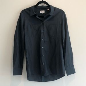 Faconnable Solid Navy Blue Blouse